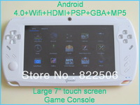 7 inch Handheld Game Console Android 4.0 Capacitive Tablet+Wifi+HDMI+MP5 Christmas gift (White)