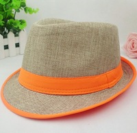 Wholesale adult summer beach straw hat women and men blank fedora caps mixed order 9 colors
