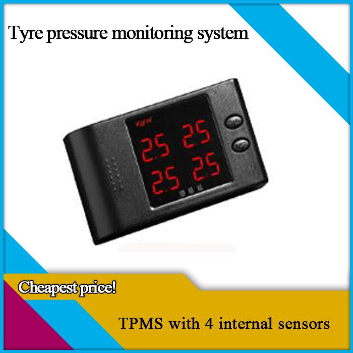 car tye pressure monitoring system with LCD display,car TPMS ,4 internal sensors,(China (Mainland))