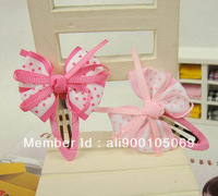 {Min.Order $10} Children / Kids/Girls Ribbon Bow Hair Clips,Hairgrips