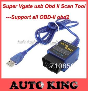 Best price ! Free shipping mini elm327 usb/mini elm 327 obd scan/ELM327/VGATE OBD SCAN PC USB interface/support all OBD-II obd2