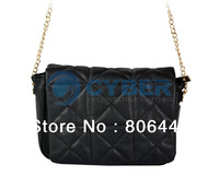 Women Simple Plaid Handbags Fashion Ladies Chain Shoulder Bag Totes Purse Free Shipping 12114