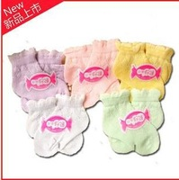 CL0079  Wholesale Free Shipping 100% Cotton 50 Pairs/Lot  Baby Socks Mini Mixed Colors, For 0-3T , hollow mesh cotton socks