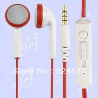 Kanen PC Laptop In-ear Earphone Earbud Headset w Microphone 3.5mm White Red