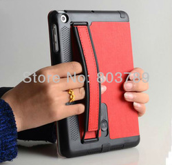 Newest Multi-function PU leather smart case for ipad mini with Hand hold, free shipping,10pcs/lot(China (Mainland))