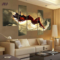 Sexy Lady Oil Painting for Decoration Art ,Handmade Canvas Oil Painting of 5 pcs Set ,Top Home Decoration JYJHS008