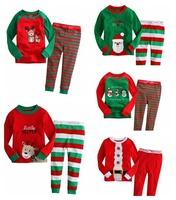 Christmas costumes baby pajamas children boy girls long sleeve pyjamas toddler sleepwear kids pajama sets t shirt skeleton pants