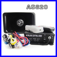 AS820 Car alarm 200w  12V wireless / Wire alarm siren propaganda, set 10 warning tone function POLICE TRAFFIC
