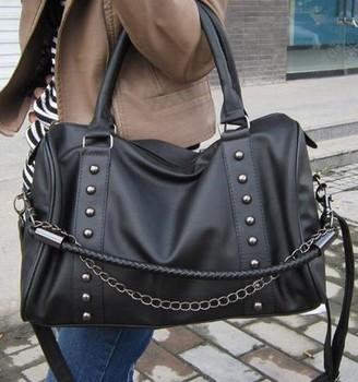 2013 New Women's handbag chain bucket bag vintage rivet bag handbag cross-body women's formal handbag  free shipping