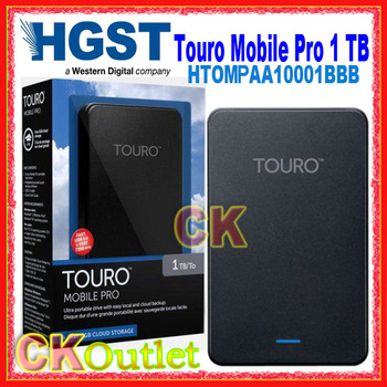 "HGST Touro Mobile Pro 1 TB HTOLMNA10001BBB 2.5"" USB3.0 Portable Hard Disk Drive HDD with 2 Year Warranty (Free Gift)"