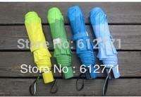 Free shipping, single fold umbrella creative sun umbrellas, prevent exterior sunshade