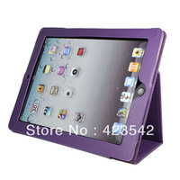 Wholesale&Free Shipping Classical Leather Case Cover Pouch Stand For Apple ipad 4&ipad 3&iapd 2,5pcs/lot