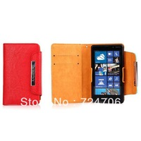 Best-selling Fresh Style Fashion PU Leather Wallet Protective Back Case for iphone 4/4s