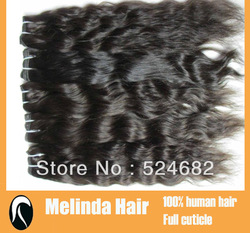 3pcs/lot Loose Wave 100% Indian Virgin Hair Machine Made Wefts(China (Mainland))