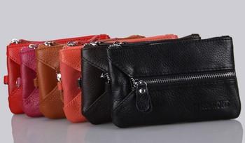 2015 womens fall pattern leather fashion generous sweet lady zipper change key multi-purpose card bag free shipping