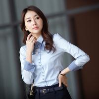 Women's work wear long-sleeve shirt office ladies all-match shirts women's fashion cotton business blouse