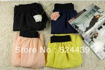 Free Shipping Chiffon skirt Elastic Waist colorfull Chiffon Long Skirt Fashion Hot Sales Bohemian Princess Skirt High Quality