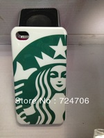 Free shipping 10pcs/lot Three color coffee pattern hard plastic Case For iphone 4 4s Hard Case Promotion price
