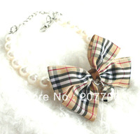 Cute Dog Jewelry Necklace with bow,Lovely Pet Accessories