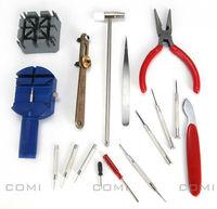 Professional 16 in 1 Multi-functional Opener Watch Link Strap Remove Repair Tools Kit Set with Screwdriver Plier Tweezer Hammer