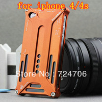Free shipping Retail package series Arachnophobia Durable luxury case metal case for iPhone 4 4S 4G