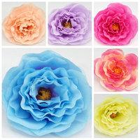 20pcs/lot Artificial Silk peony Flower Heads Wedding decoration Wedding fabric flowers sale free shipping