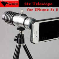 14x optical zoom lens Telescope camera for iPhone lens for iPhone 5 5s mobile phone lens cell phone lens,1 pcs free shipping