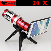 20x degree optical zoom Telescope lens camera for Samsung Galaxy Note 2,with tripod / case,Nice Gift 1 pcs/lot free shipping
