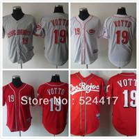 Free Shipping  Cintinnati Reds #19 Joey Votto Jersey 100 % Stitched baseball jersey