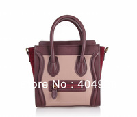 88029 nano smile face bag 2013 new arrivals Designer fashion handbags  wholesale and retail women genuine  leather handbag