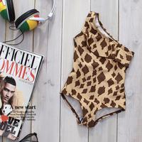 Free shipping 2014 Leopard Print One-piece Swimwear Children Swimsuit Children Sexy Girl Swimwear Pineapple Girl Baby Swimsuit