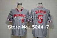 Free Shipping Cincinnati Reds 5 BENCH Red Bp 1983 M&N Jersey
