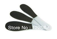 Free shipping 2013 new nail tools + rub feet + plastic double-sided matte rub feet + file the feet + foot rub + foot setback