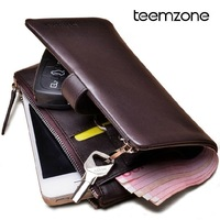 First layer of cowhide men key wallet car key case multifunctional 100% genuine leather zipper long man wallet 317