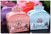 Free shipping DIY Wedding Favors Box Paper Candy Box Gift Box Party Favor Box - 9.5 x 5.9 x 13cm each color 120pcs/lot LWB0295B