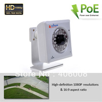 HD 1080p onvif 2 mp camera poe ip surveillance system  with free apps on iPhone, iPad, Android smartphone + Free shipping
