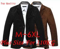 Retail Free ship 2013 New Fashion man casual Winter coat silm Black / Brown blazeroversize suit For men plus size 4XL,5XL,6XL
