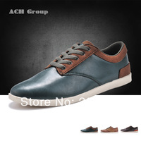 brand name Men's Gunine Leather Shoes, Mens Fashion Causal shoes, Men's Leather Flats,leisure shoes For Men Big discount