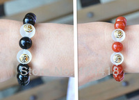 Free Shipping New Anime One piece Portgas D Ace Cosplay Accessories Bracelet Agate 2 Color Can Choose