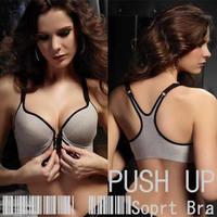 2013 Free Shipping Front Button Vest Design Bamboo Charcoal Fiber Bra Health Front Button Underwear Sports Bra For Summer Women