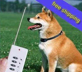 Free shipping High quality Pet Dog Training Remote Vibration Sound Control Dog Bark Collar Stop D19060SL(China (Mainland))