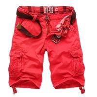 Free shipping mens fashion cargo shorts for men,male casual multi-pocket tooling shorts C1308