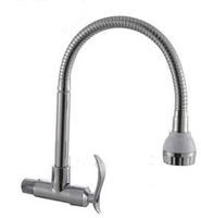Copper pots vegetables sink kitchen basin single cold wall faucet
