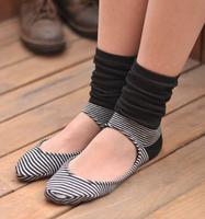 Stripe socks women's 100% cotton sock set