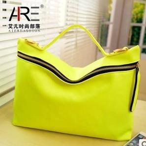 Fashion Postman retro Women's Handbag  2014  Neon Color PU leather Messenger Bag Candy bag Oblique across bag  free shipping