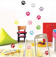 free shipping Fashion DIY waterproof footprints,Cute wall stickers,Cartoon wallpaper,Fashion DIY waterproof footprints 100pcs
