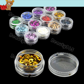 12 Color Nail Art Article Glitter Short Flash Nail Glitter Powder Polish Builder Nail Powder  Decoration 8251