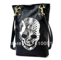 5pcs/lot  New Style Fashion skull package rivets diagonal handbags women's Shoulder bag,lady Cross Body bag free shipping