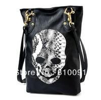 5pcs/lot  New Style Fashion skull package rivets diagonal handbags women's Shoulder bag,lady Cross Body bag free shipping