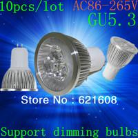 Free shipping 10X High power GU5.3 gu10 e27 e14 15W 12W 9W Dimmable Light lamp Bulb LED Downlight Led Bulb Warm/Pure/Cool White